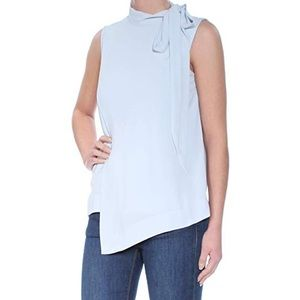 Rachel Roy Mock Front Tie Sleeveless Top